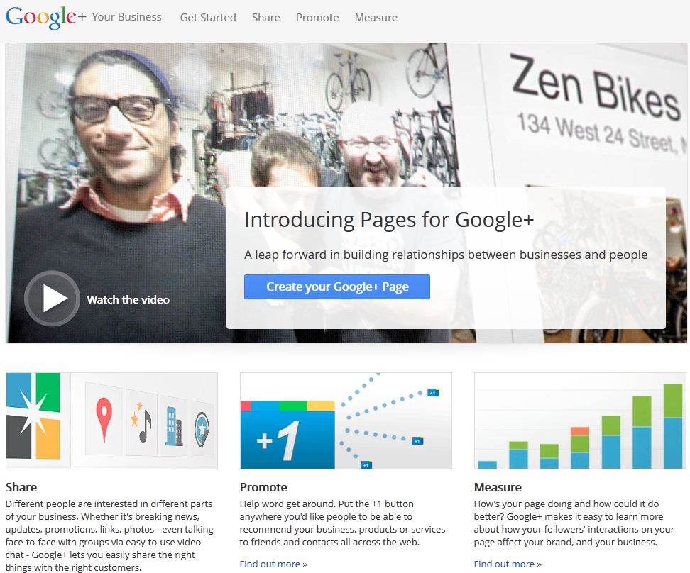 Google+ for Business - Step 1