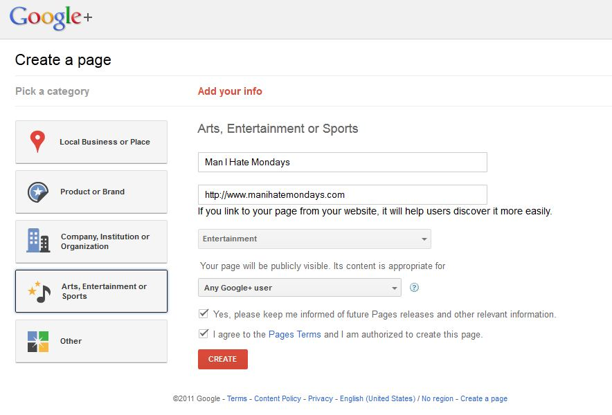 Google+ for Business - Step 3