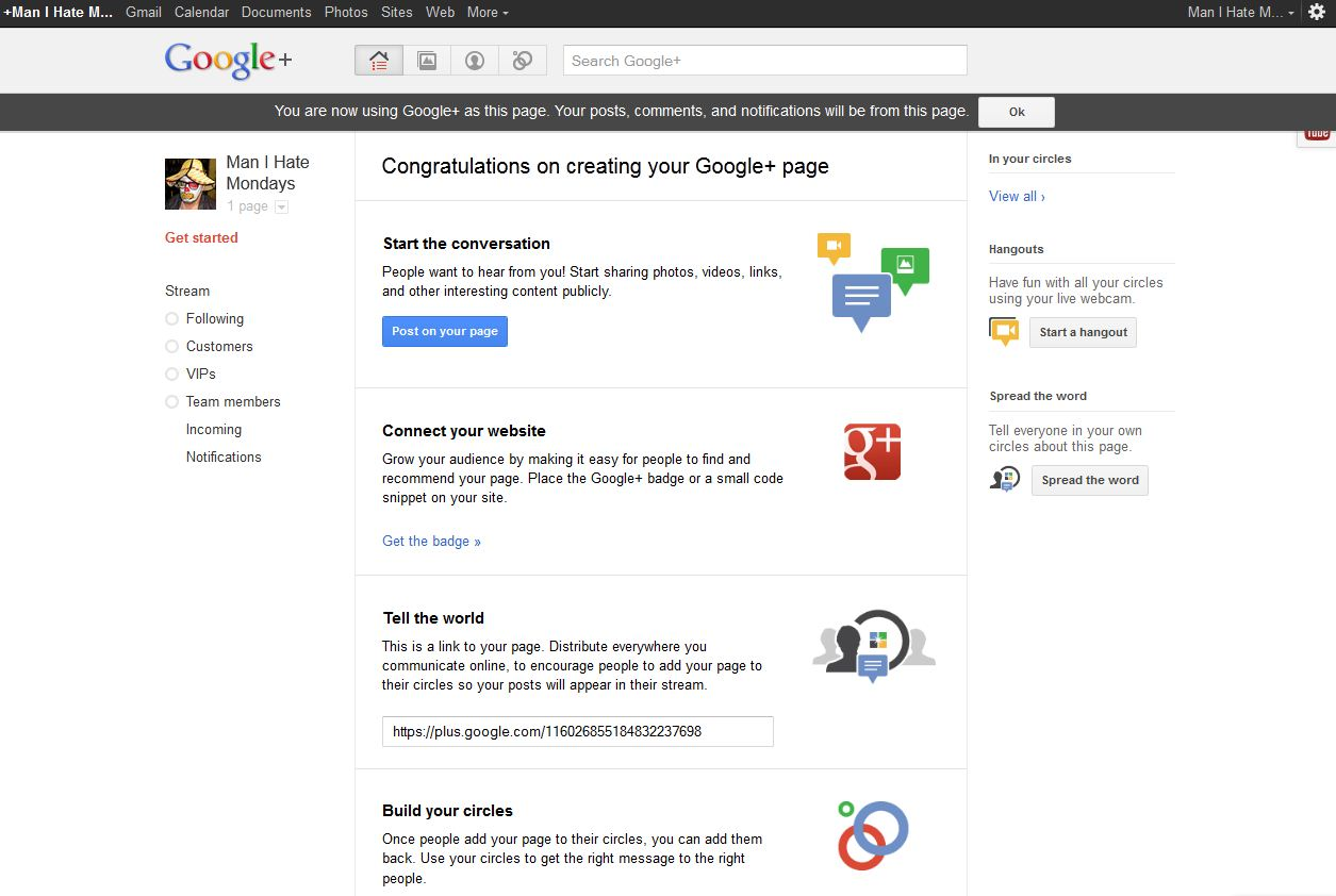Google+ for Business - Step 8