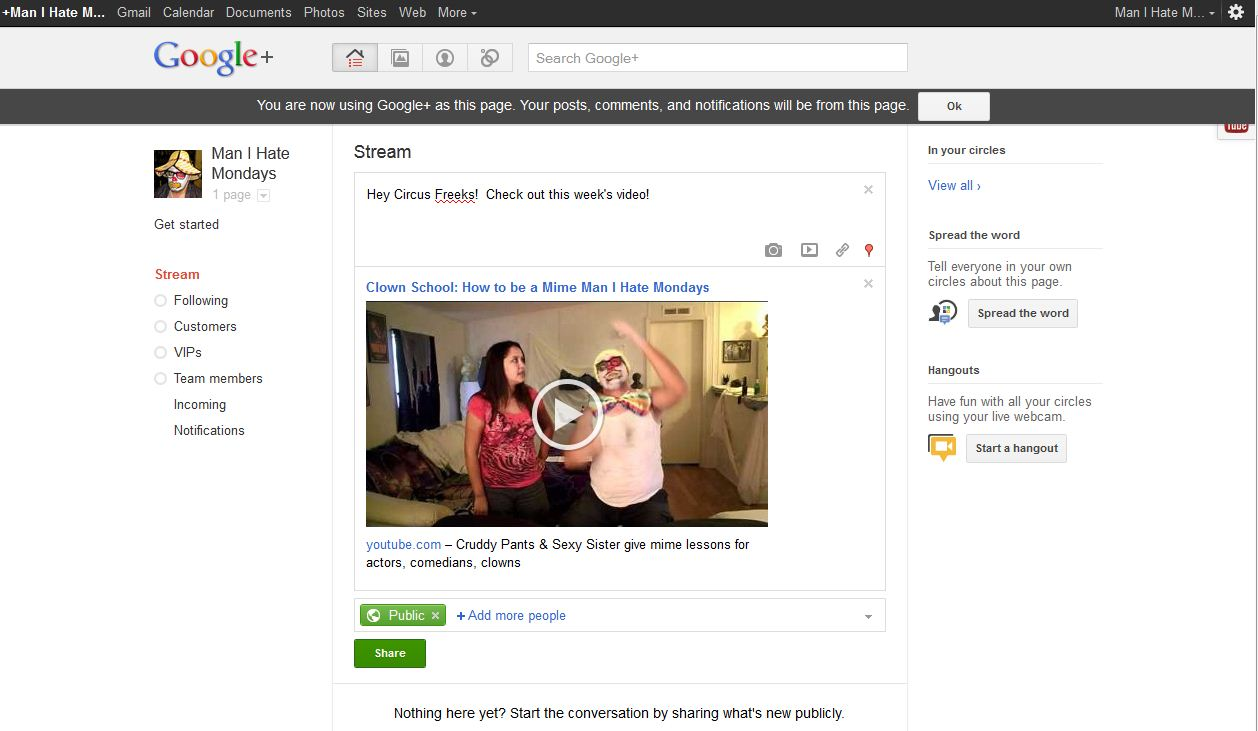 Google+ for Business - Step 9.1