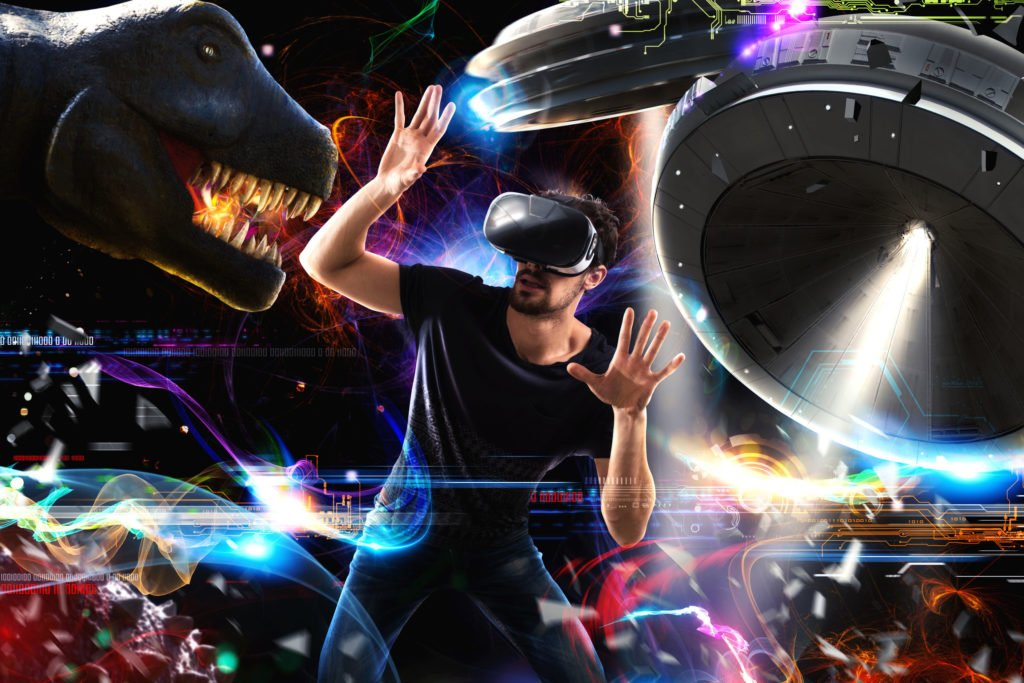 sarasota video animation services - man with virtual reality headset